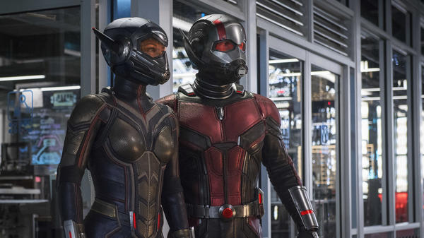 Evangeline Lilly and Paul Rudd suit up for <em>Ant-Man and the Wasp</em>.