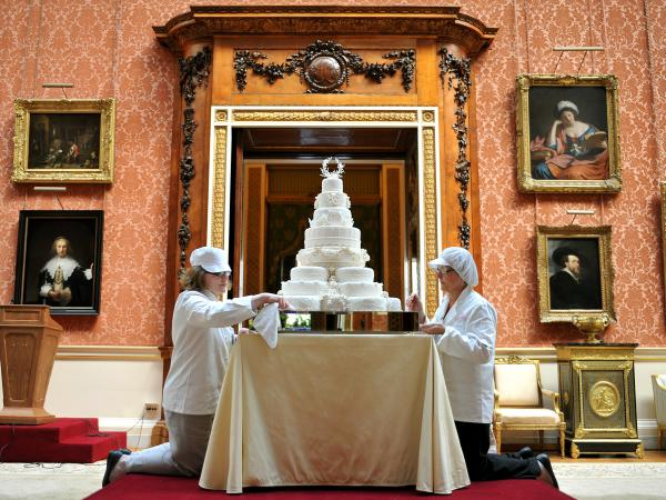 A slice of cake from the 2011 wedding of Prince William and Kate Middleton will be sold by Julien's Auctions in June. Pieces of four other royal wedding cakes also will be auctioned off.