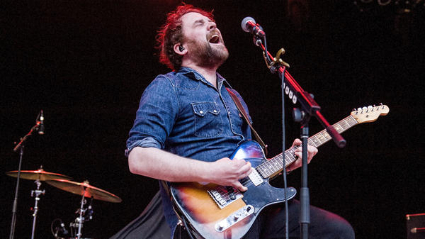 Scott Hutchison of Frightened Rabbit performs at The Greek Theatre on May 25, 2017 in Los Angeles, California.