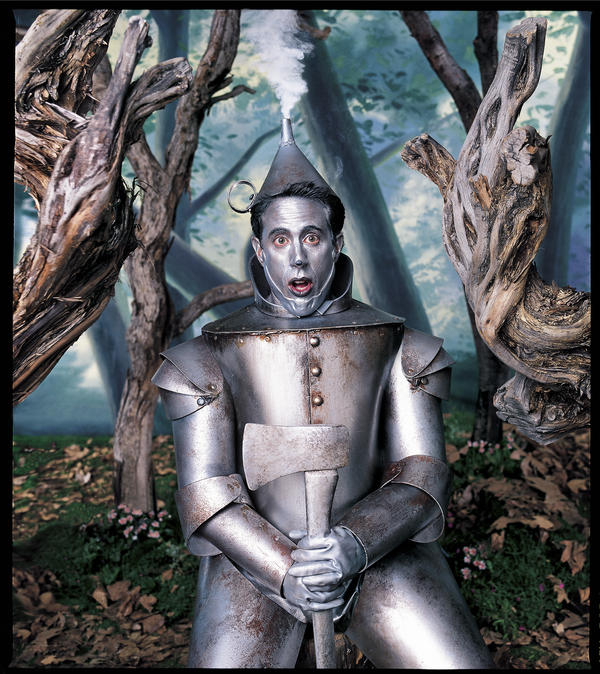 Mark Seliger says a sense of humor is what differentiates his portraits. Above, comedian Jerry Seinfeld as the Tin Man from <em>The Wizard of Oz.</em>
