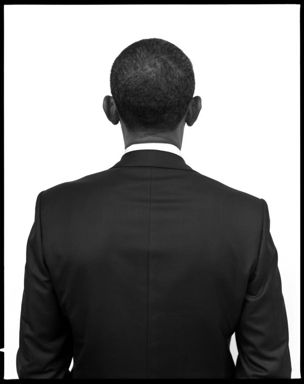 "Seliger had just six minutes to photograph Barack Obama. During the session, Obama asked if this angle would make his ears look big. Seliger said, ""Absolutely not."""