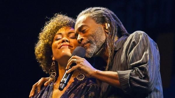 Bobby McFerrin with his daughter Madison McFerrin at Monterey Jazz Festival in 2014.