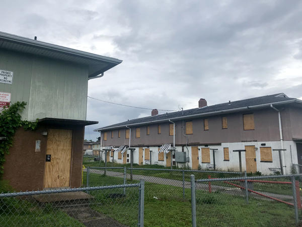 Most of the units in the sprawling McBride housing project on Cairo's south side are now boarded up. The remaining families have until the end of June to move.