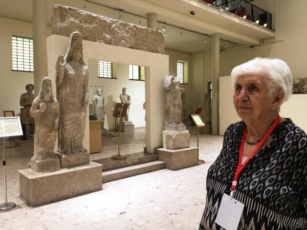 Archaeologist Lamia al-Gailani at the Iraq Museum in Baghdad. The museum was looted in 2003 after the U.S. invasion of Iraq. Some of its antiquities were recovered but looting has continued in the south of Iraq, where thousands of ancient sites yet to be excavated by archaeologists are unprotected.