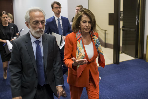 House Minority Leader Nancy Pelosi (D-CA) is pictured on Capitol Hill on Wedesnday in Washington, DC.