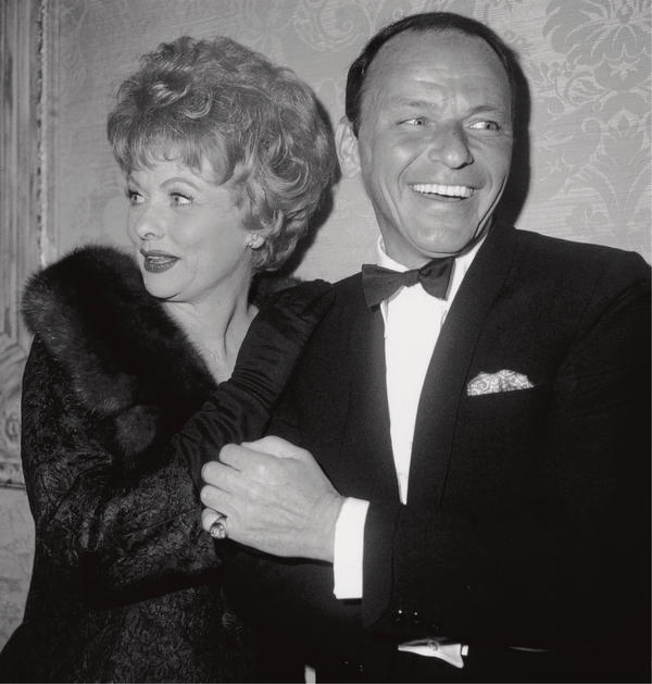 Rodriguez captured this candid of Lucille Ball and Frank Sinatra at the Screen Producers Guild Awards in 1962.