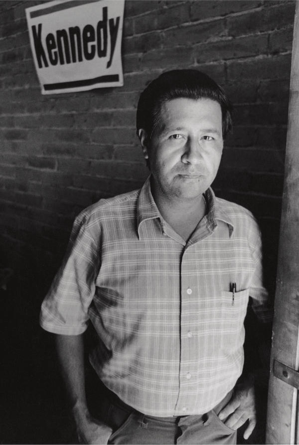 Rodriguez made this portrait of labor organizer Cesar Chavez in Delano in 1969.