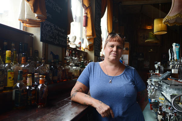 """Stacey Thomas, owner of the Bourbon Bar """"The Lexington,"""" says new tariffs on whiskey will hurt her business. """"Customers that maybe would have tried bourbon will probably just go for a vodka or a gin or a rum,"""" she says."""