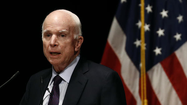 "Sen. John McCain called President Trump's news conference with Russian President Vladimir Putin ""one of the most disgraceful performances by an American president in memory."""