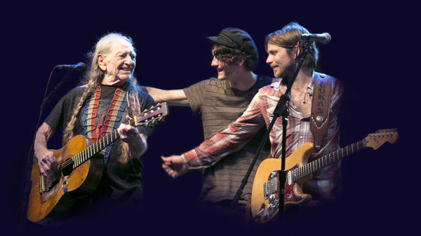 """There's nothing that makes a parent happier than having your kids up there doing things with you,"" Willie Nelson says of his sons Micah and Lukas."