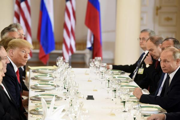 President Trump meets President Putin of Russia in Helsinki in July.