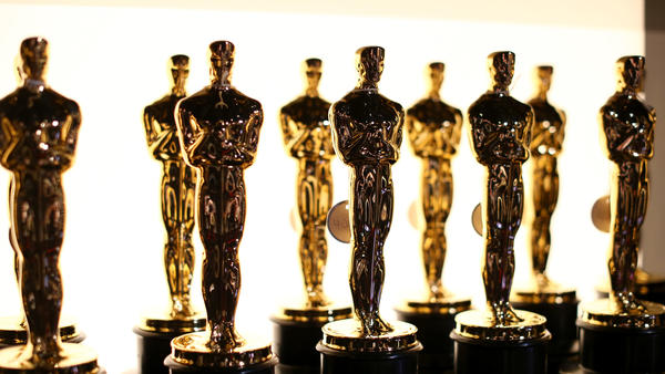 Oscar statues are seen backstage during the 88th Annual Academy Awards at Dolby Theatre on February 28, 2016 in Hollywood, California.