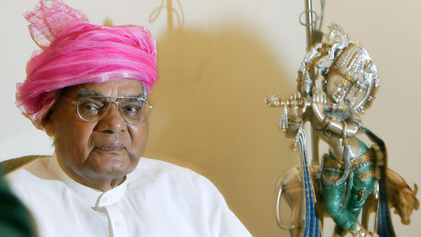Former Prime Minister Atal Bihari Vajpayee is seen at his residence in New Delhi in July 2007.