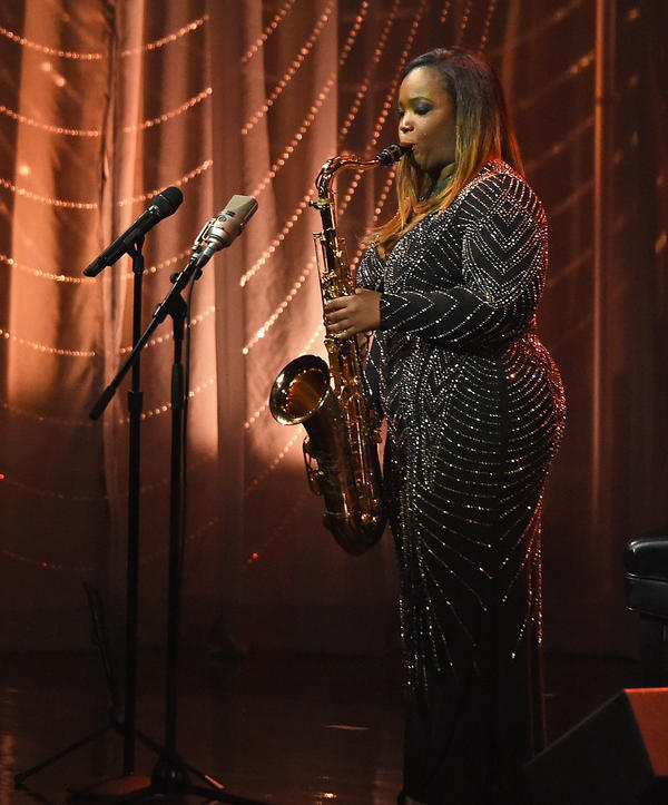 Camille Thurman performs at the Jazz at Lincoln Center 2017 Gala in New York City.