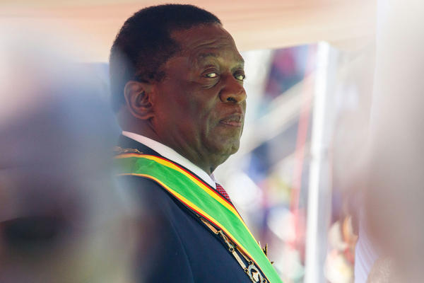 Emmerson Mnangagwa looks on during his official inauguration ceremony as the President of Zimbabwe at the National Sports Stadium in the capital Harare.