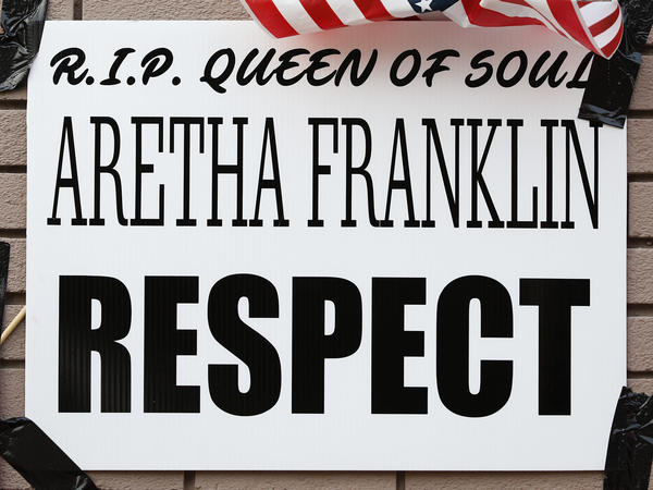 An impromptu memorial for Aretha Franklin outside New Bethel Baptist Church in Detroit — the same church where Franklin's father Rev. C.L. Franklin was a minister and where she began her singing career. Taken Aug. 19, 2018 in Detroit, Michigan.