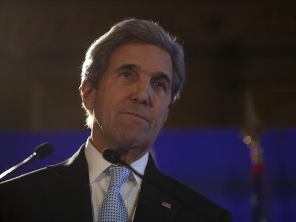 U.S. Secretary of State John Kerry gives a press conference after a meeting on Syria, in Paris, on Dec. 10, 2016.