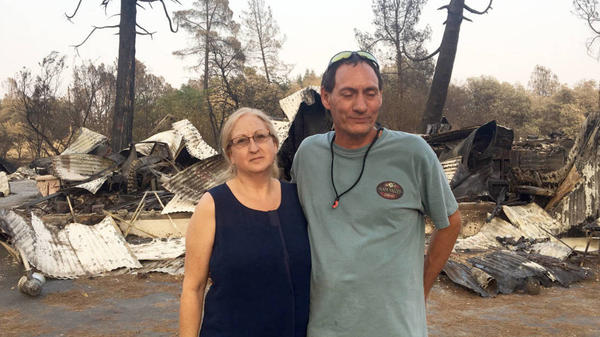 Wendy and Norm Alvarez lost their home to the Carr Fire earlier this summer. Low-income people often face more challenges when it comes to recovering from a natural disaster.