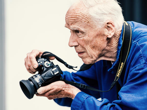 Photographer Bill Cunningham outside Skylight Clarkson Sq during New York Fashion Week on July 15, 2015 in New York City.