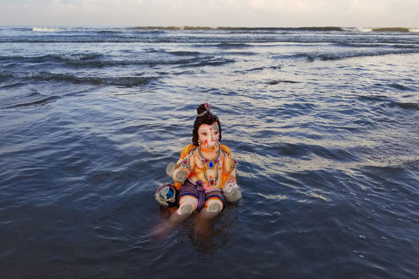 The Ganpati festival is celebrated all over India, with faithful immersing idols in lakes, streams, even man-made ponds dug out for the occasion. But Mumbai is its epicenter.