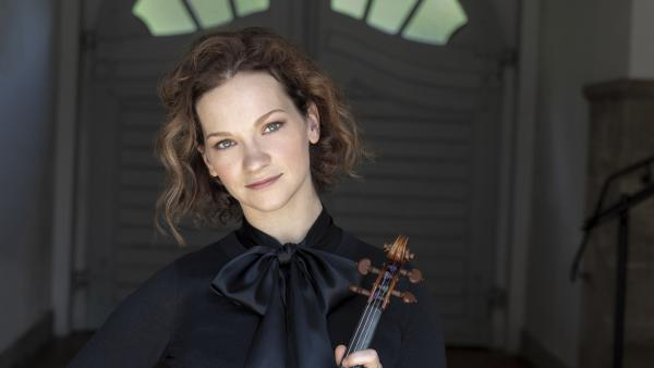 """""""Every time I learn something new about the music, I then bring [that] into the next performance,"""" Hilary Hahn says."""