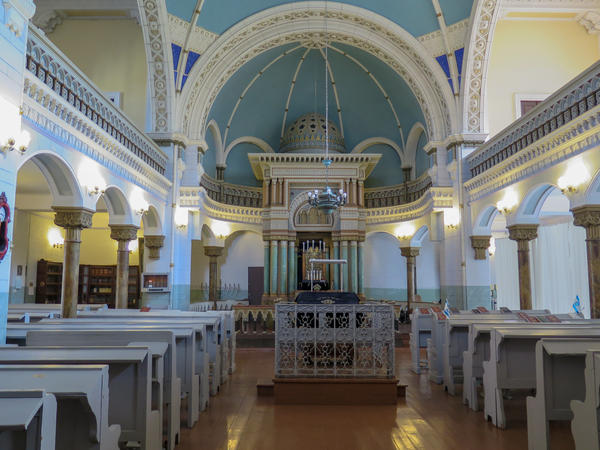 Vilnius, once a center of Jewish life in Eastern Europe, is now home to only 3,000 Jews. The Choral Synagogue is the Lithuanian capital's only working synagogue and one of the few remaining living Jewish sites in the city.