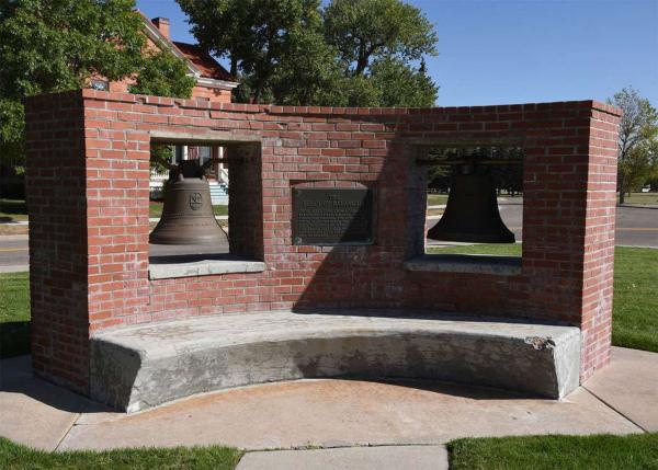 The Balangiga bells at F.E. Warren Air Force base in Cheyenne, Wyoming.