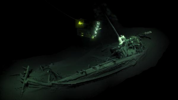 The Black Sea Maritime Archaeology Project says the intact shipwreck was discovered at a depth of more than 1 mile, where the scarcity of oxygen helped preserve the ancient vessel.
