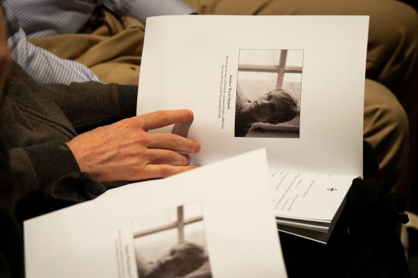 A program from Matthew Shepard's public remembrance at the National Cathedral in Washington, D.C. on Friday.