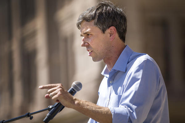 Beto O'Rourke speaks at the Texas State Capitol in August at the Rise Up rally for criminal justice reform.