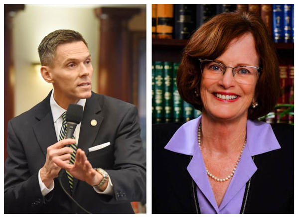 Republican Ross Spano (right) and Kristen Carlson (left) are vying to replace retiring U.S. Representative Dennis Ross in a district representing parts of Hillsborough, Polk and Lake Counties.