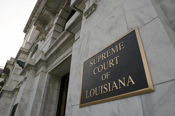 The exterior of the Supreme Court of Louisiana in New Orleans.