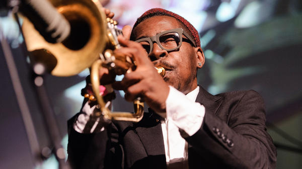 Trumpeter Roy Hargrove performs at the Brooklyn Masonic Temple on May 1, 2013. Hargrove died at age 49 Friday in New York.