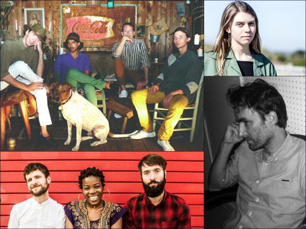Clockwise from upper left: Deerhunter, Tomberlin, Andrew Bird, Bokanté + Metropole Orkest