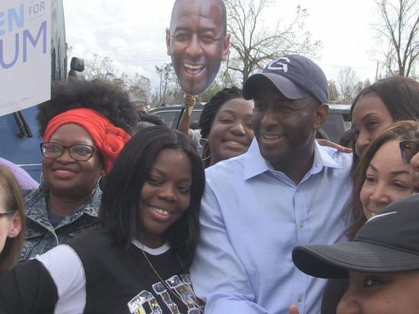 Andrew Gillum promised black residents of counties ravaged by Hurricane Michael that they will receive support in their efforts to rebuild.