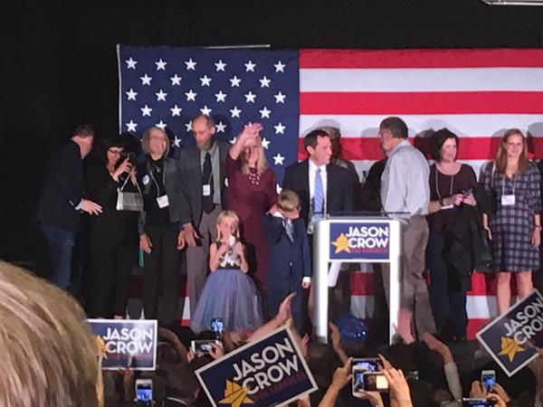 Jason Crow takes the state in Greenwood Village following his victory in the 6th Congressional District.