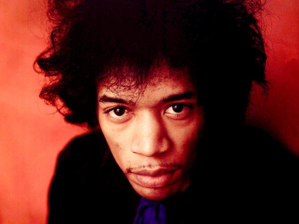 Portrait of Jimi Hendrix from 1968