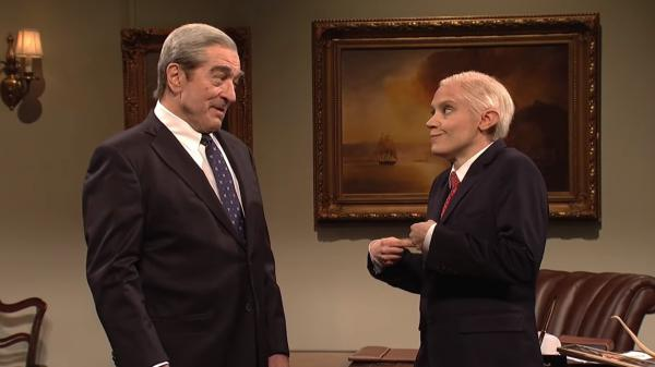 <em>Saturday Night Live</em> said goodbye to Jeff Sessions with Robert De Niro as Robert Mueller and Kate McKinnon as Sessions Saturday.