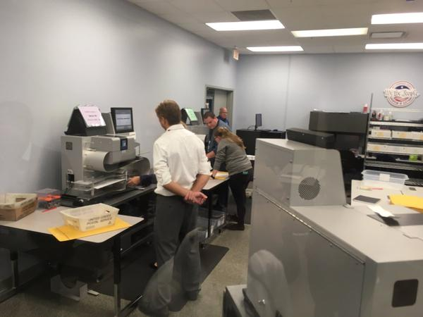 The election recount began at the Hillsborough County Supervisor of Elections office on Sunday morning.