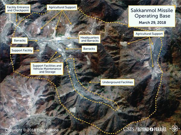 Sakkanmol Missile Operating Base in North Korea.