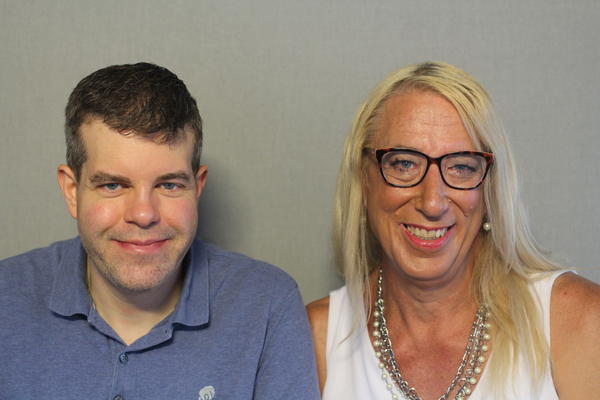 Darin Challacombe and Samantha Ruggles talked about how Ruggles came out as a transgender woman at the StoryCorps MobileBooth in Kansas City.
