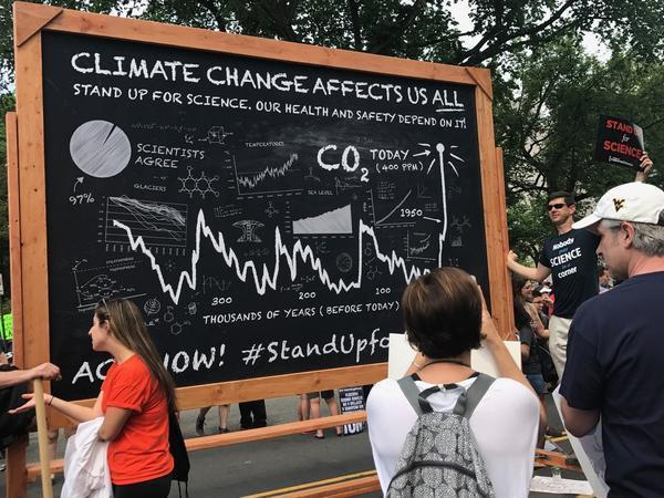 A sign from the 2017 People's Climate March.