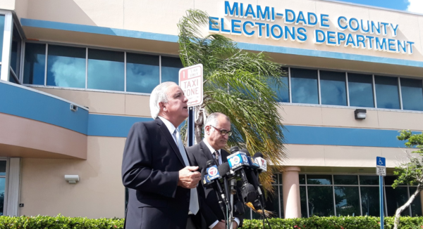 "Miami-Dade Mayor Carlos Gimenez said they are ""way ahead of schedule"" to make Thursday's deadline for recount."