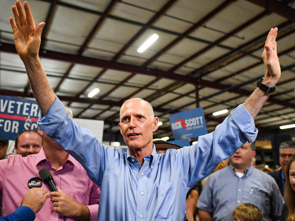 Even before the recounts were done, Gov. Rick Scott attended freshman orientation this past week at the Capitol. Scott is seen here at a rally in Orlando on Nov. 2.