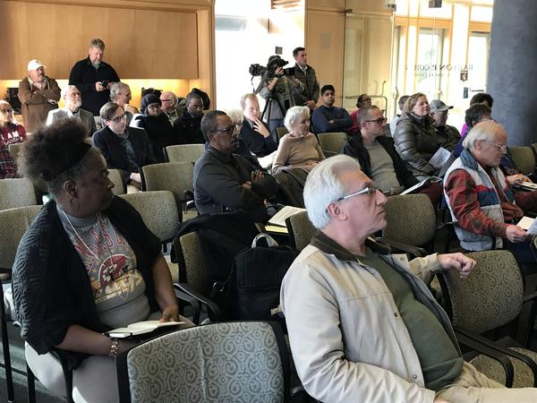 City officials presented a draft of their five-year housing plan at the first of several community meetings on Saturday.