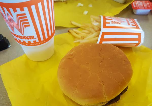 A handful of protestors turned out in three Texas cities Monday to ask San Antonio-based Whataburger to stop using styrofoam cups.