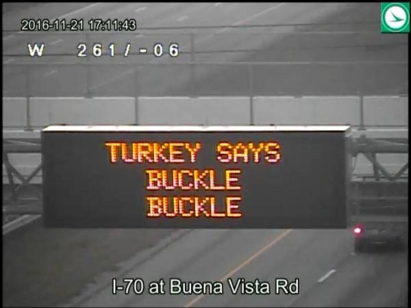 Bruning says this is one of ODOT's most popular signs and won't be going away anytime soon.