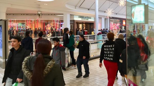 Shoppers packed malls like Tysons Corner Center in northern Virginia Friday.