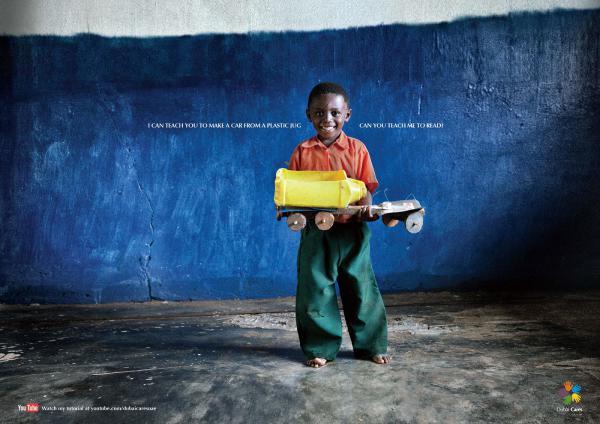 An ad by the global education charity Dubai Cares.