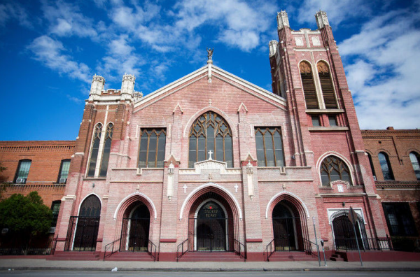 Sagrado Corazón, Sacred Heart Church, located in El Paso's Segundo Barrio was the city's first Spanish-speaking Catholic church.